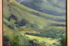 King Valley vista - Oil on linen 2017