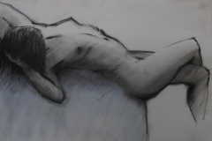 Female study 2 -John Orlando Birt graphite June 2012
